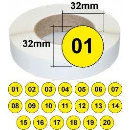 Etiquettes avec numéro