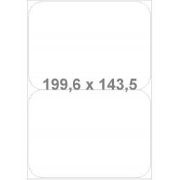 Étiquettes Coins arrondis 199.6x143.5 mm