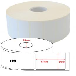 Etiquettes papier velin 37x67mm