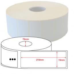 Etiquettes papier velin 74x210mm