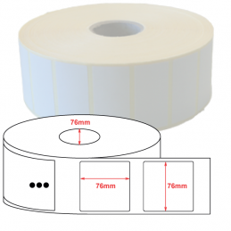 Etiquettes papier velin 76x76mm