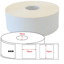 Etiquettes papier couché mat 76x76mm