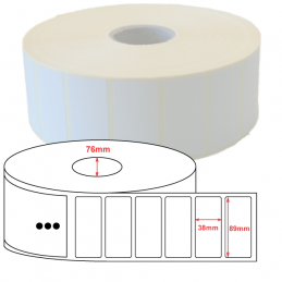 Etiquettes papier velin 89x38mm