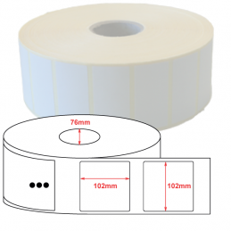 Etiquettes papier couché mat 102x102mm