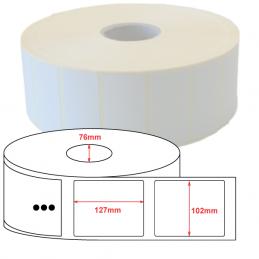 Etiquettes papier velin 102x127mm