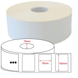 Etiquette Polyethylène 102x76 mm blanc brillant