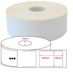 Etiquette Polyethylène 102x152 mm blanc brillant