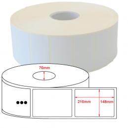 Etiquette Polyethylène 148x210 mm blanc brillant