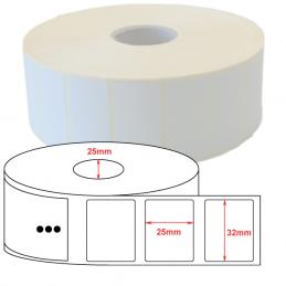 Étiquettes papier couché mat 32x25mm