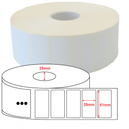Étiquettes papier couché mat 51x25mm