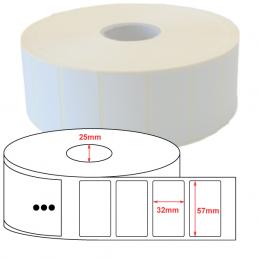 Étiquettes papier velin 57x32mm