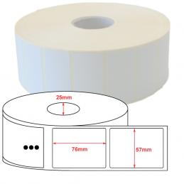 Étiquettes papier couché mat 57x76mm