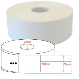 Étiquettes papier couché mat 57x102mm