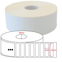 Étiquettes papier couché mat 102x25mm