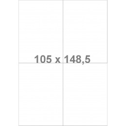 Étiquettes laser en polyester 105x148.5 mm