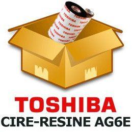 Ruban TOSHIBA cire résine 55mmx800m AG6E - Imprimantes B-EX4T1 / B-SX5