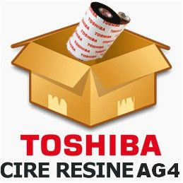 Ruban TOSHIBA 55mmx600m cire-résine AG2 - Imprimante B-EX4T1 / B-SX5