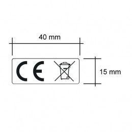 Etiquette CE et DEEE 40x15 mm