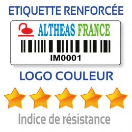 Etiquette d'inventaire 40x15 couleur avec code-barre