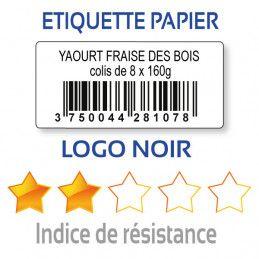 Etiquette d'inventaire papier 40x20mm code-barre