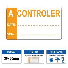 Etiquette prélaminée 35x20mm - A CONTROLER
