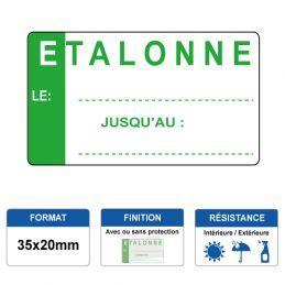 Etiquette prélaminée 35x20mm - ETALONNE