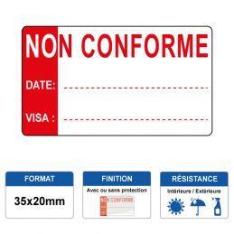 Etiquette prélaminée 35x20mm - NON CONFORME