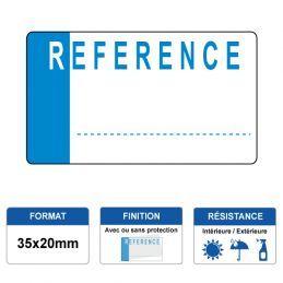 Etiquette prélaminée 35x20mm - REFERENCE