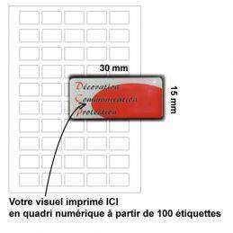 Etiquette dômée 30x15mm