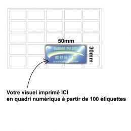 Etiquette dômée 50x30mm