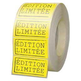 Etiquette papier fluo - 1 couleur