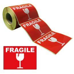 """Étiquettes """"FRAGILE"""" 105x74mm"""