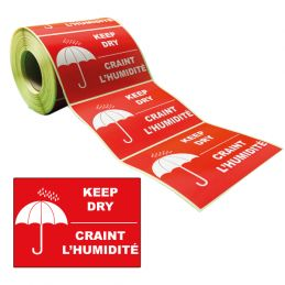 Étiquettes CRAINT L'HUMIDITE 105x74mm