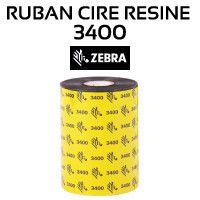 Ruban Cire-Résine 3400 pour imprimante ZEBRA