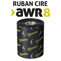 Ruban cire AWR8 pour imprimante ZEBRA