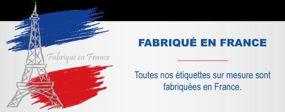 Etiquettes fabriquées en France